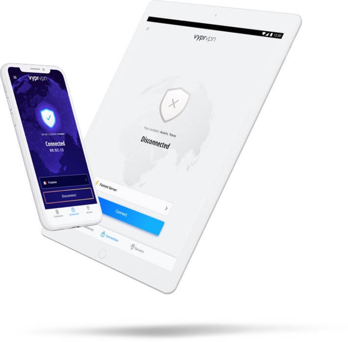 iPhone & iPad mobile devices VPN features